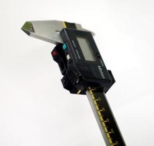 Messschieber mit montiertem WLAN Modul