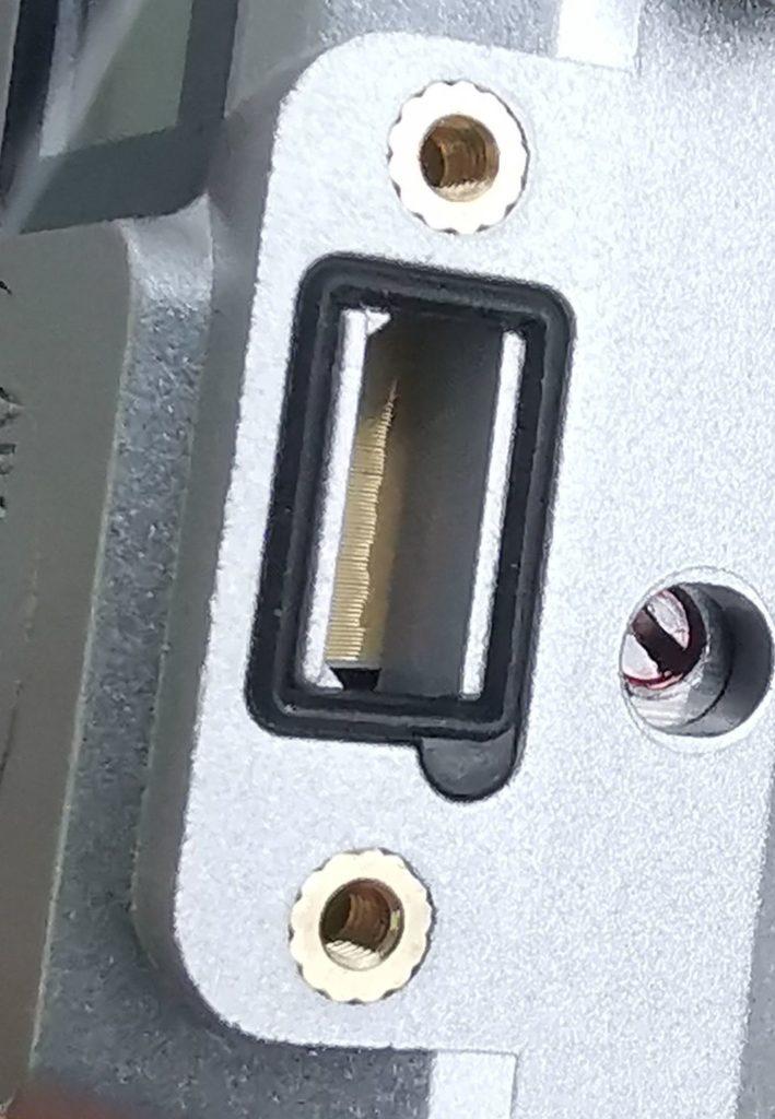 Digimatic Schnittstelle in Schutzart IP67 an einer Mitutoyo Bügelmessschraube